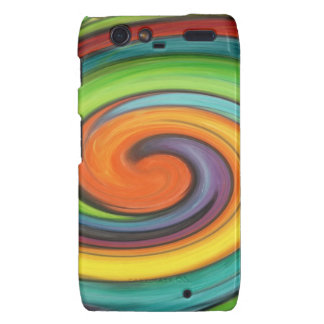 Rainbow Swirl Droid RAZR Cover