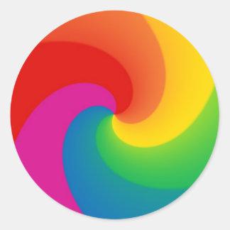 Rainbow Swirl Classic Round Sticker