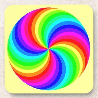 Rainbow Swirl Drink Coaster