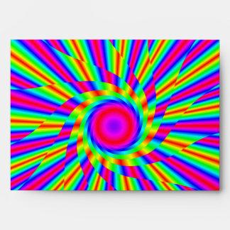 Rainbow swirl envelope