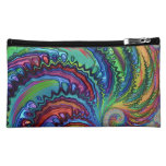Rainbow Swirl Fractal Cosmetic Bag