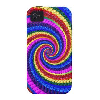 Rainbow Swirl Fractal Pattern iPhone 4 Covers