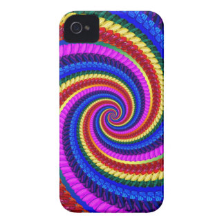 Rainbow Swirl Fractal Pattern iPhone 4 Cover