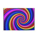 Rainbow Swirl Fractal Pattern Covers For iPad Mini