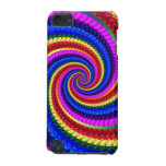Rainbow Swirl Fractal Pattern iPod Touch Case
