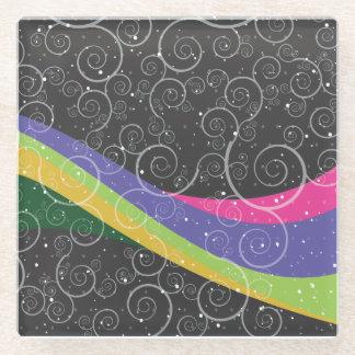 Rainbow Swirl Glass Coaster