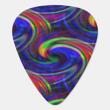 Rainbow Swirl Guitar Pick by Iverson_Designs at Zazzle