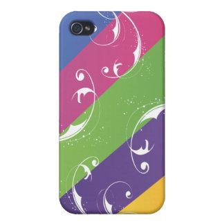 Rainbow Swirl Case For iPhone 4