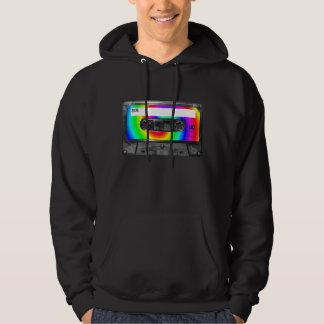 Rainbow Swirl Label Cassette Hoodie