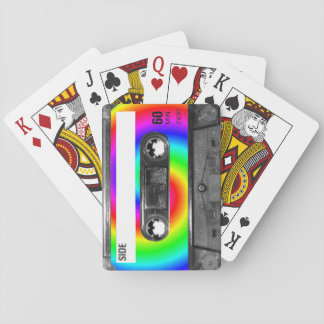 Rainbow Swirl Label Cassette Poker Deck