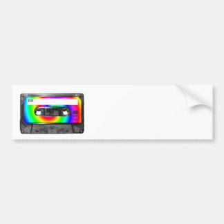 Rainbow Swirl Label Vintage Cassette