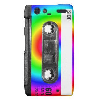 Rainbow Swirl Label Vintage Cassette Droid RAZR Cover