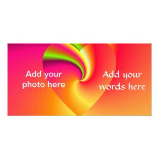 Rainbow Swirl Love Heart Card
