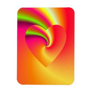 Rainbow Swirl Love Heart Magnet