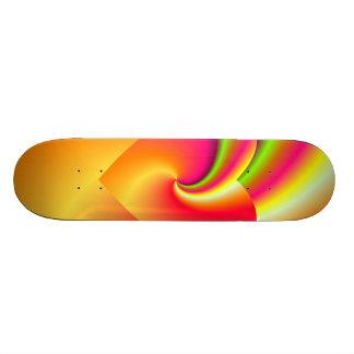 Rainbow Swirl Love Heart Skateboard