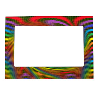 Rainbow Swirl Magnetic Frame