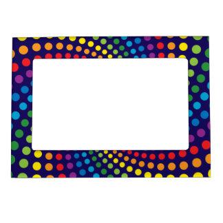 Rainbow swirl magnetic photo frame
