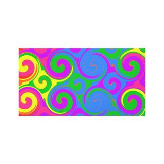 Rainbow Swirl Pattern Canvas Print