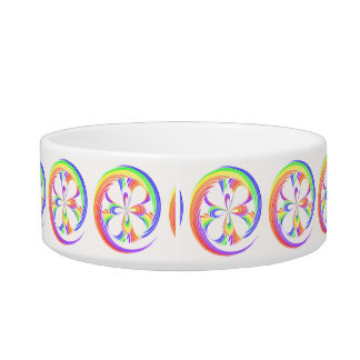 Rainbow Swirl Pet Dog Cat Bowl