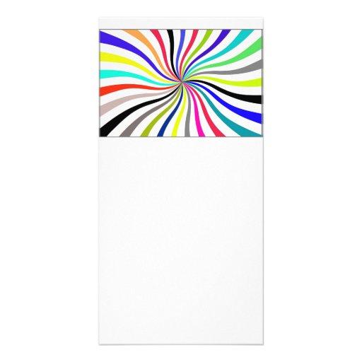 Rainbow swirl photo greeting card