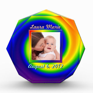 Rainbow Swirl Picture Frame Award