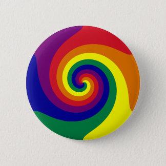Rainbow Swirl Pinback Button
