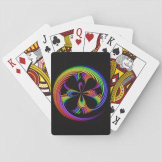 Rainbow Swirl Playing Cards Poker Classic Poker Cards