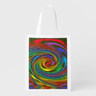 Rainbow Swirl Reusable Grocery Bag