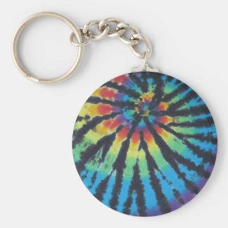 Rainbow Swirl Spiral Tie Dye PhatDyes Keychain