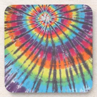 Rainbow Swirl Tie Dyes Drink Coaster