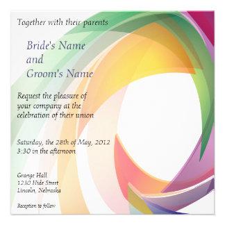 Rainbow Swirl Wedding Invite - 1