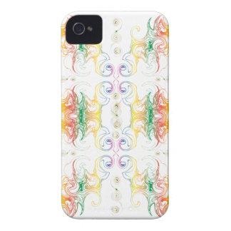 Rainbow Swirl White Blackberry Bold Case