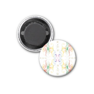 Rainbow Swirl White Magnet