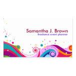 Rainbow Swirls Business Card