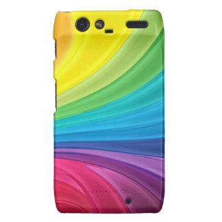 Rainbow Swirls Motorola Droid RAZR Case