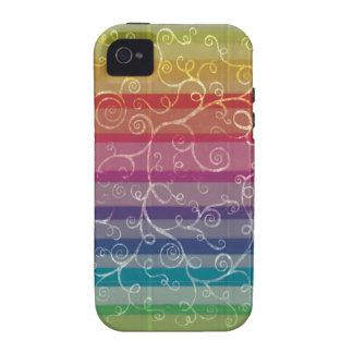 Rainbow Swirls Vibe iPhone 4 Cover