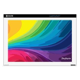Rainbow Swirls Computer Skin Laptop Skin