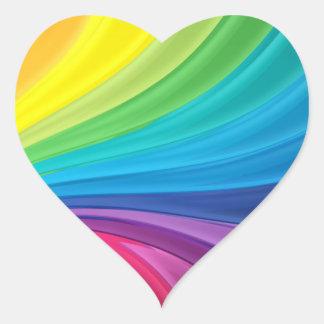 Rainbow Swirls Heart Sticker