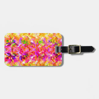 Rainbow swirls travel bag tags