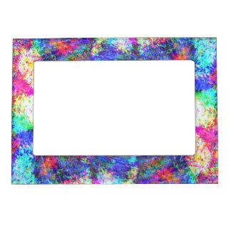 Rainbow Swirls Magnetic Photo Frame