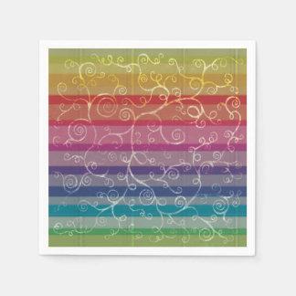 Rainbow Swirls Paper Napkins