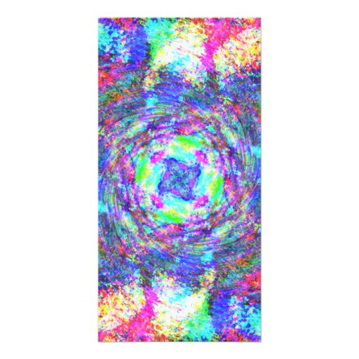 Rainbow Swirls Photo Card