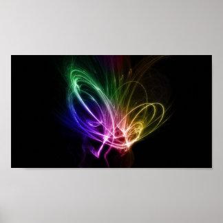 Rainbow Swirls Poster
