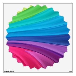 Rainbow Swirls Wall Decal