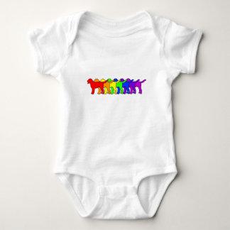 Rainbow Swissie Baby Bodysuit
