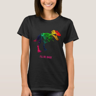 Rainbow T Rex Funny Fossil With Your Name T-Shirt