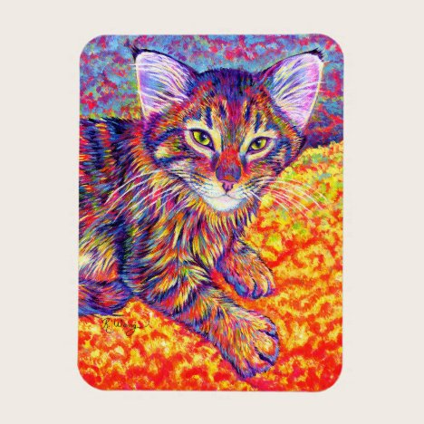 Rainbow Tabby Maine Coon Kitten Flexible Magnet