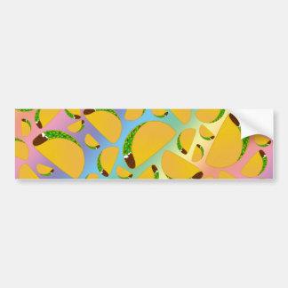 Rainbow tacos car bumper sticker