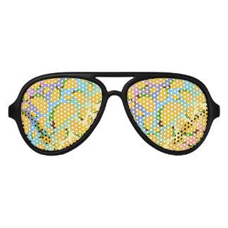 Rainbow tacos aviator sunglasses