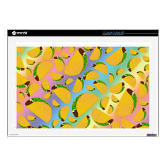 "Rainbow tacos skin for 17"" laptop"